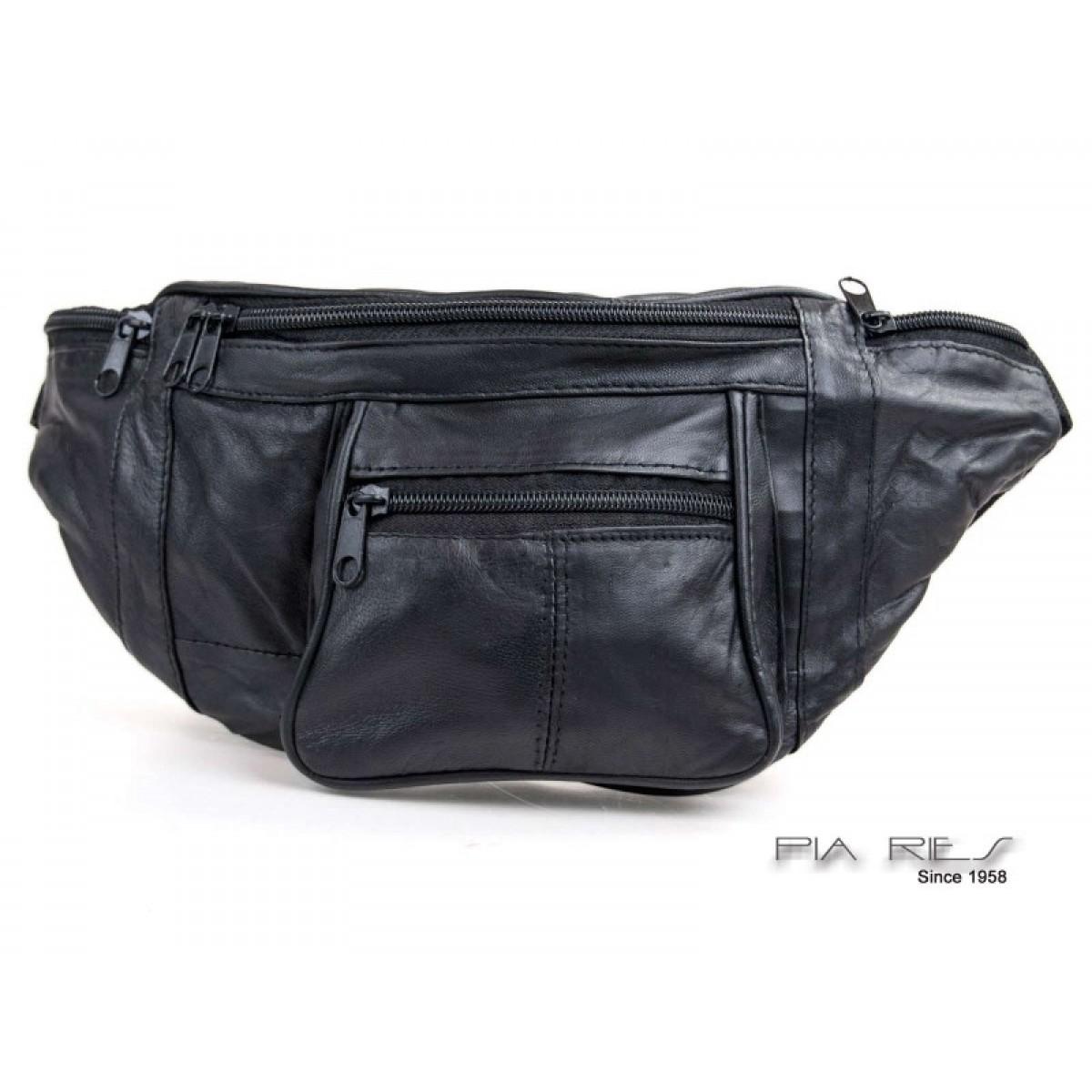 Bæltetaske med lynlås lommer for og bag-31