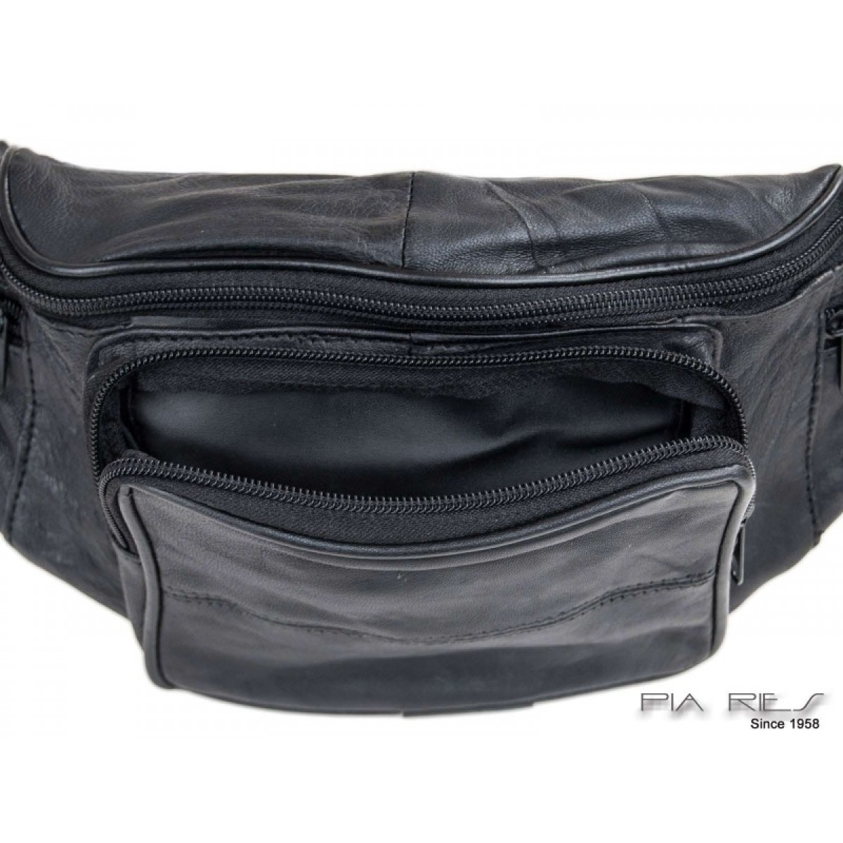 Bæltetaske med stor udvendig lynlås lomme-31