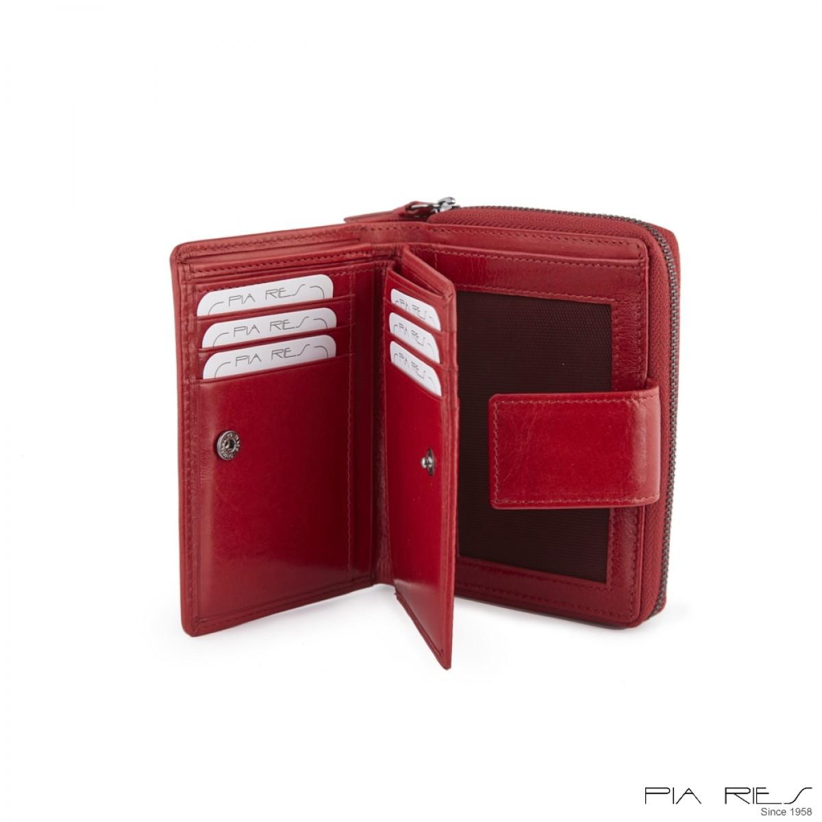 Damepung med mange kort-Rød-34