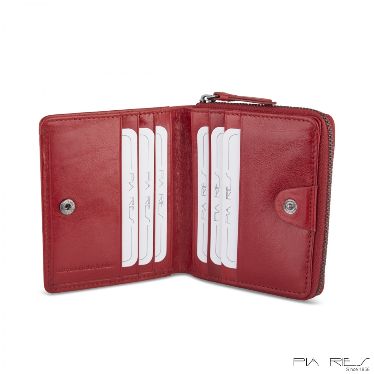 Damepung med tryknap-Rød-31