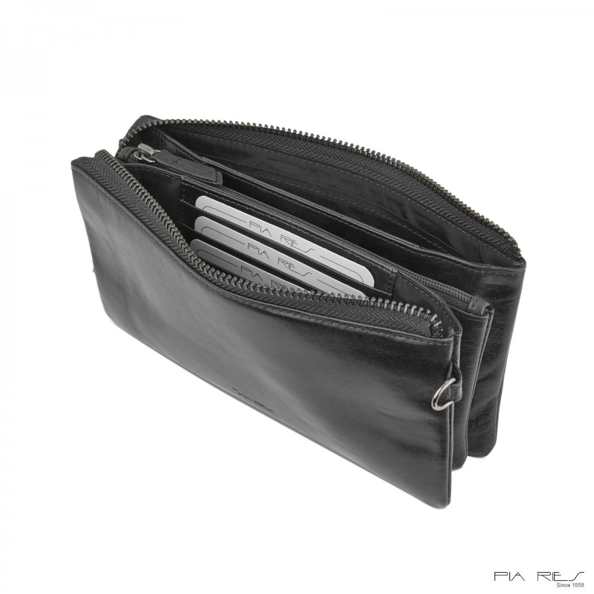 Clutch taske i Rain Crunch skind-33