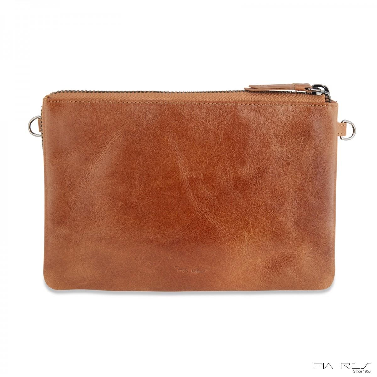 Stor clutch taske i crunch skind-33