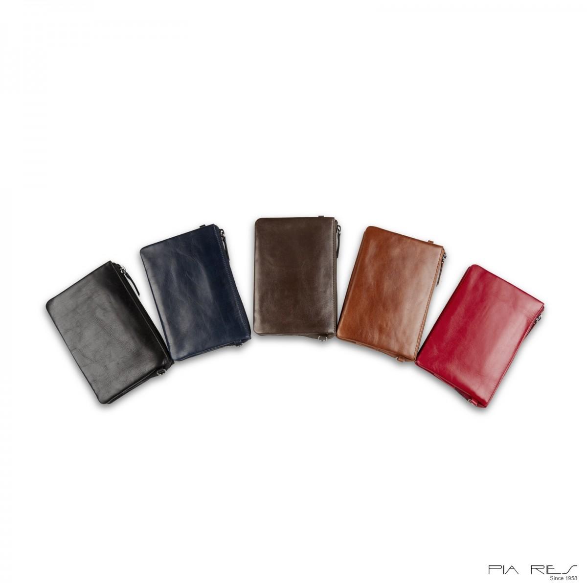 Clutch taske i Rain Crunch skind stor-Gråbrun-32