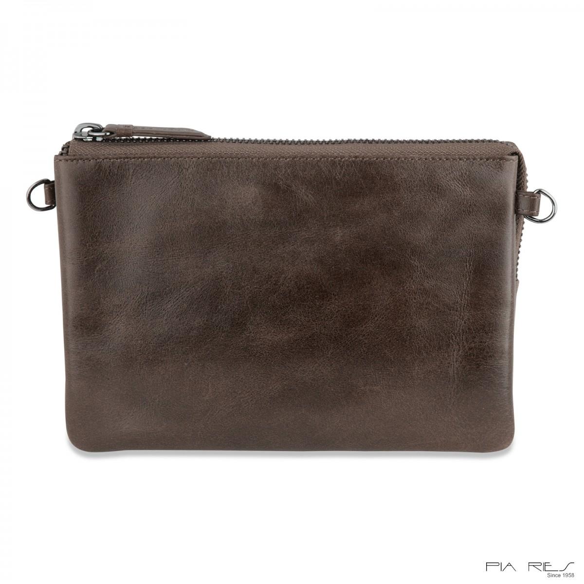 Stor clutch taske i crunch skind-31