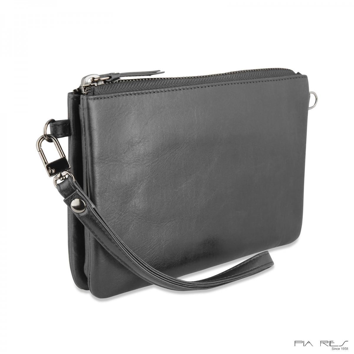 Stor clutch taske i crunch skind-38