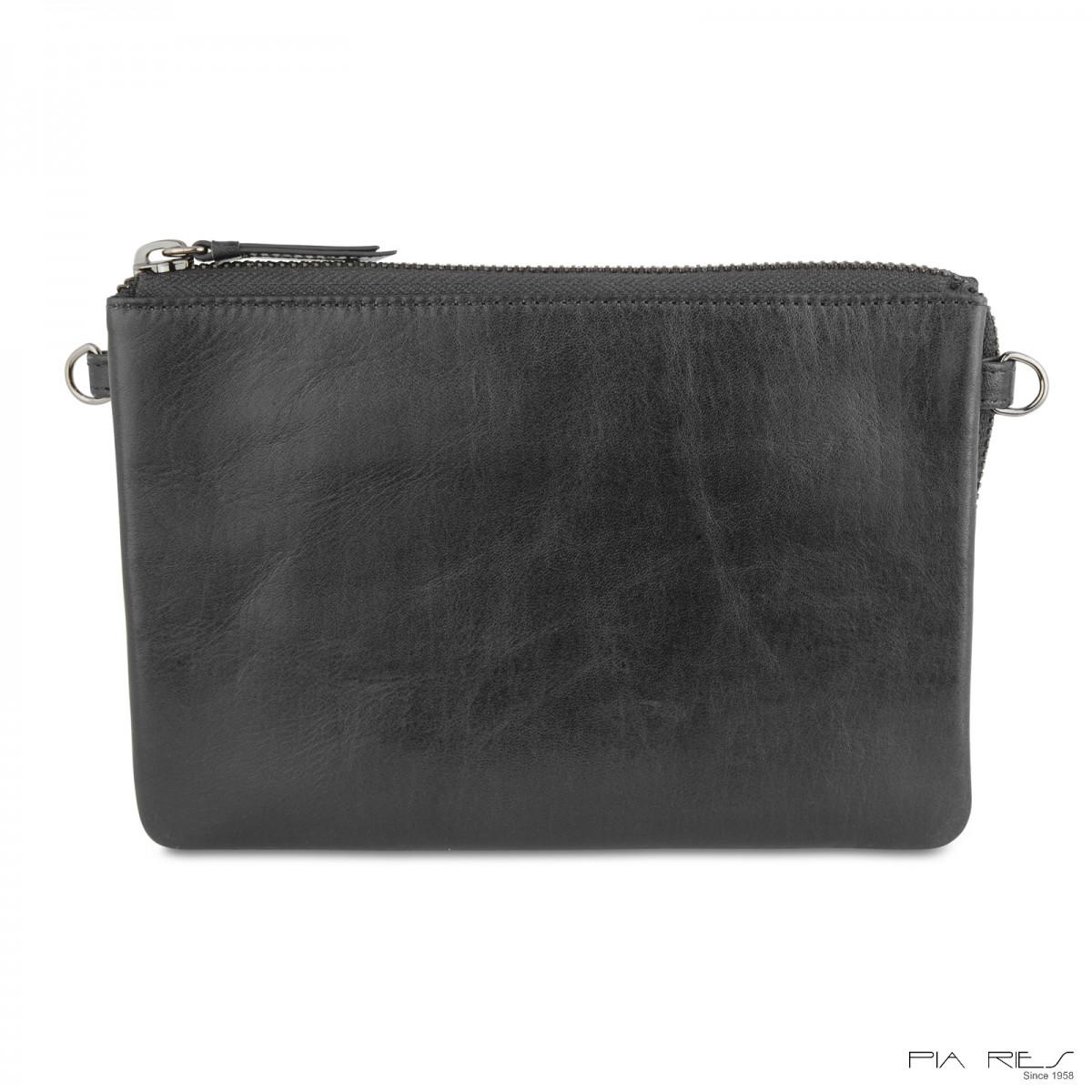 Stor clutch taske i crunch skind-34