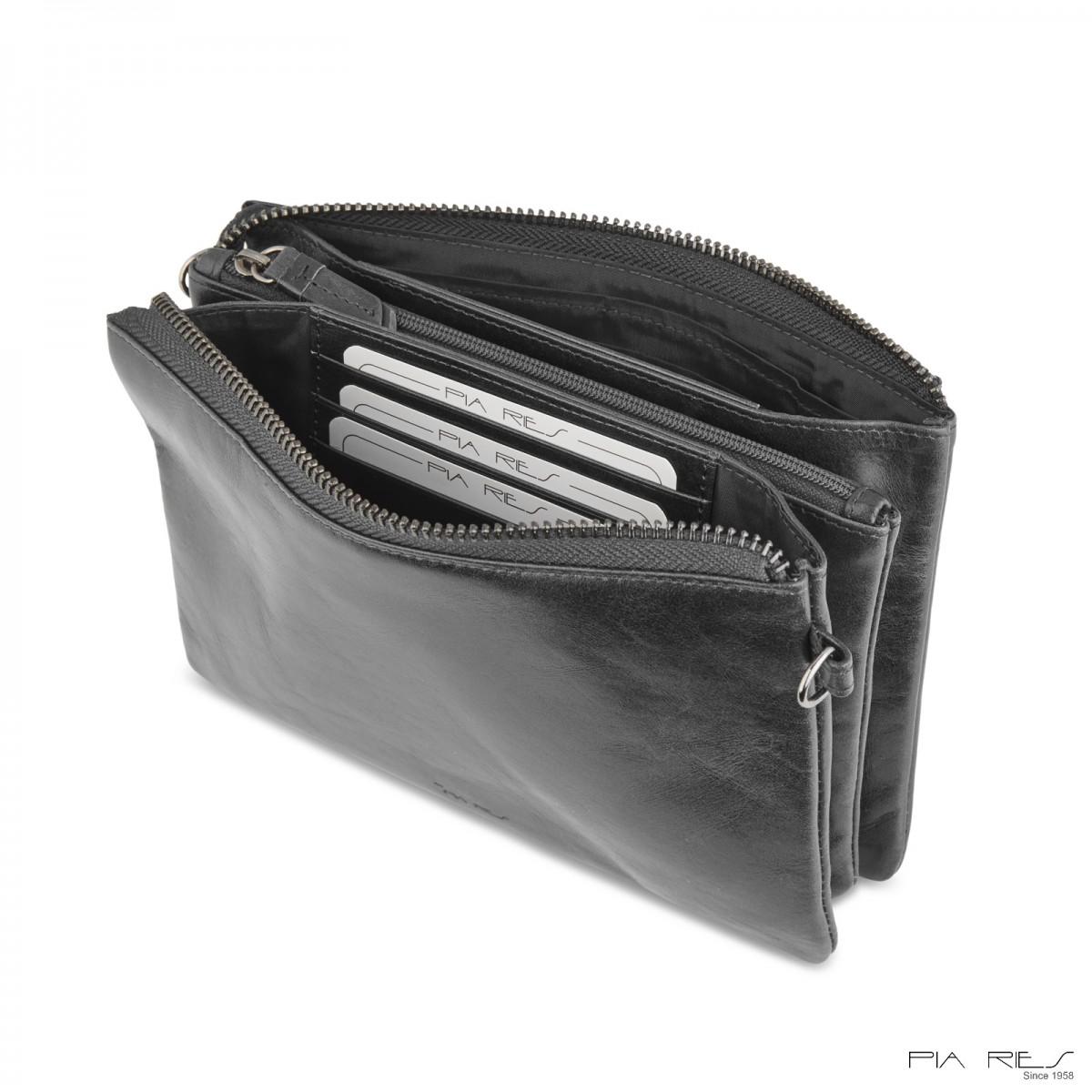 Clutch taske i Rain Crunch skind stor-310