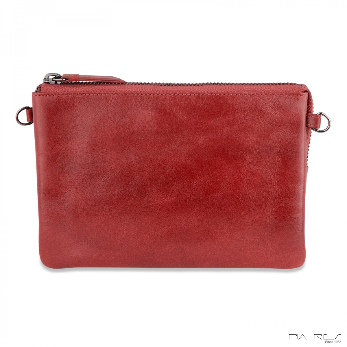 Clutch taske i Rain Crunch skind stor-Rød-32