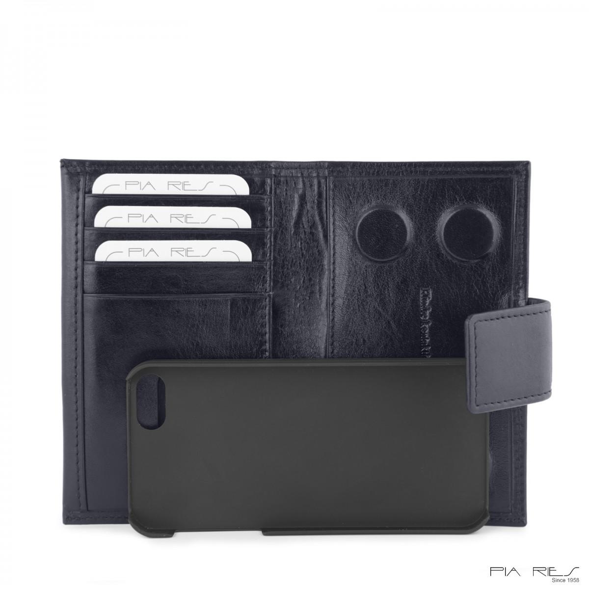 I-phone 5 lædercover-Mørkeblå-34