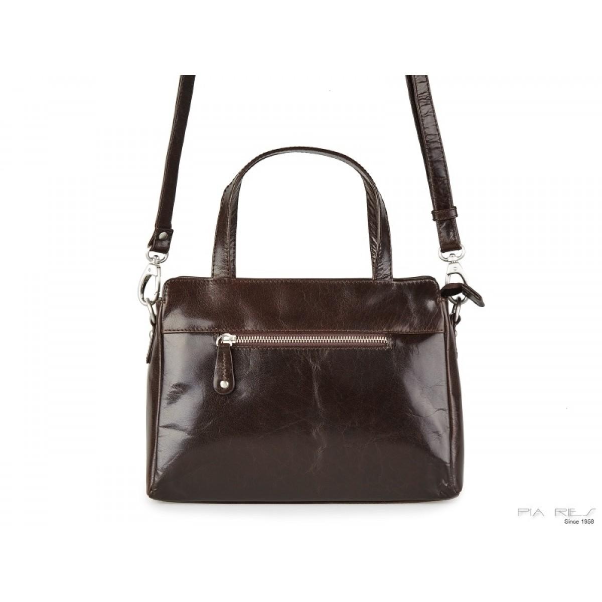 Lille håndtaske i brun-31