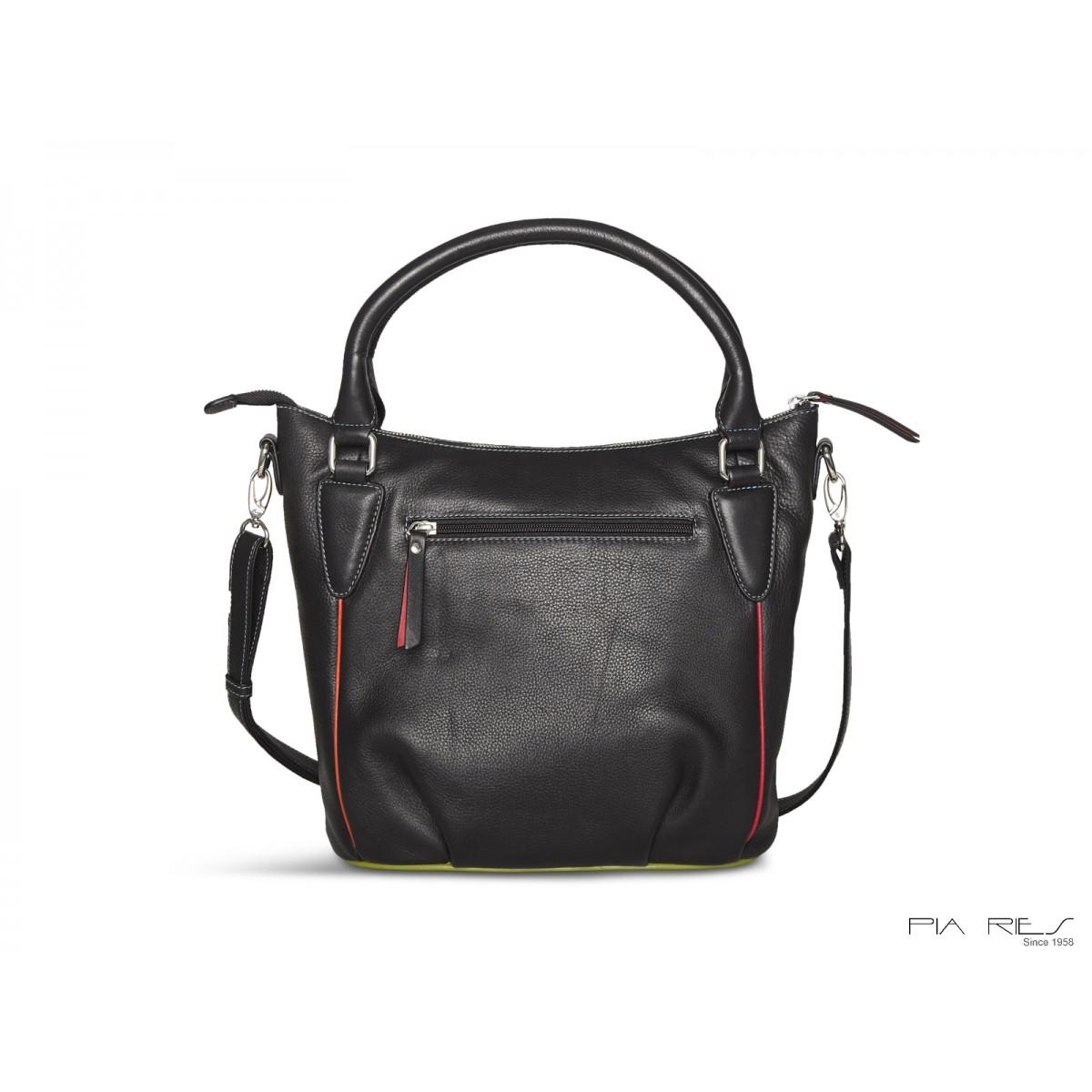 Tropical håndtaske med lang skulderrem-36