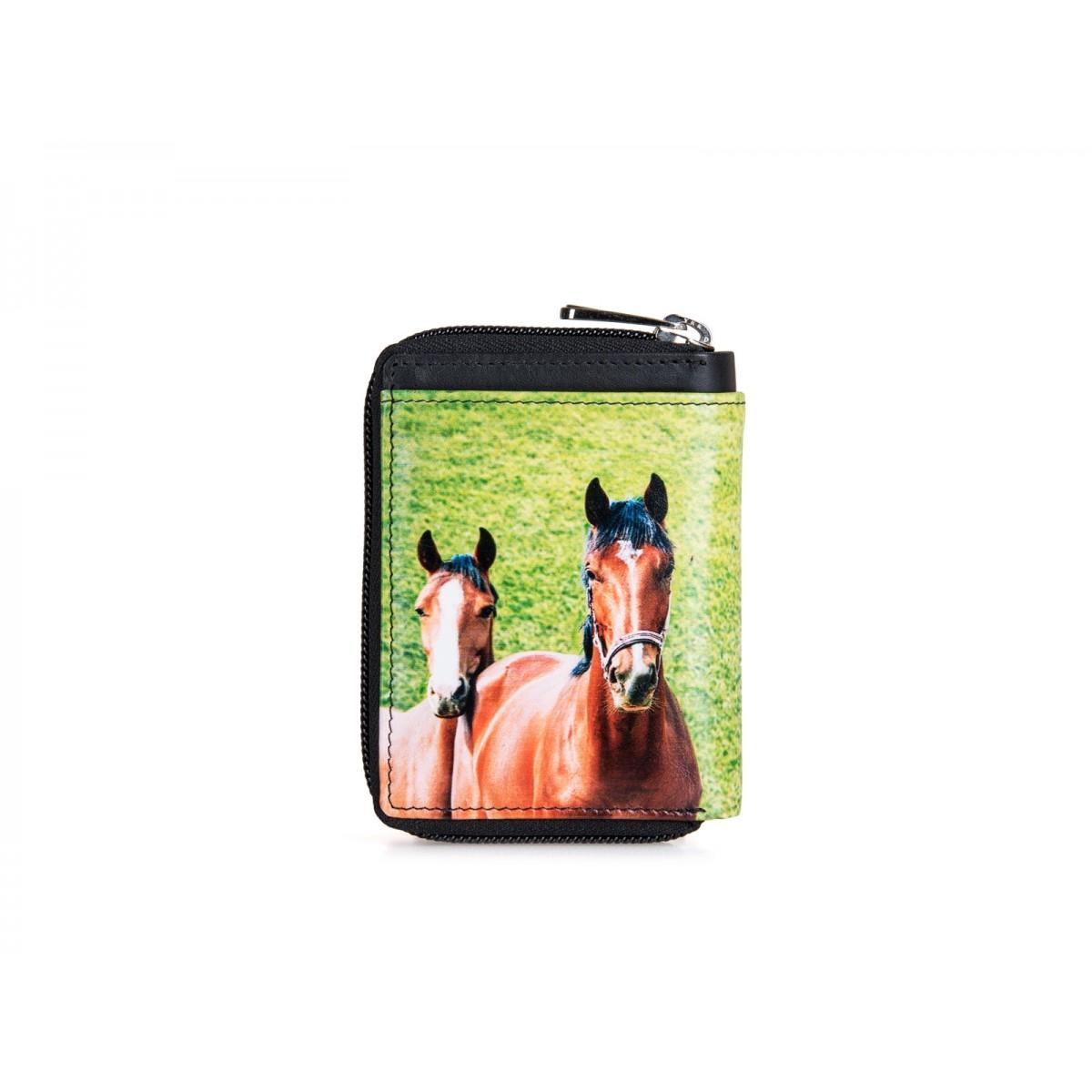 Lille pung med plads til kort og mønter med fint hestemotiv-31