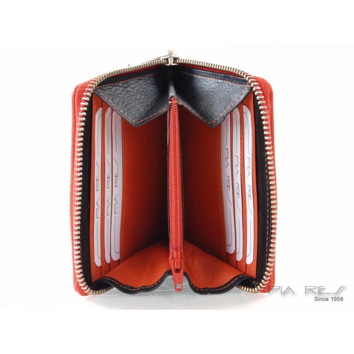Pung i flotte farver med plads til kort og mønter orange-31