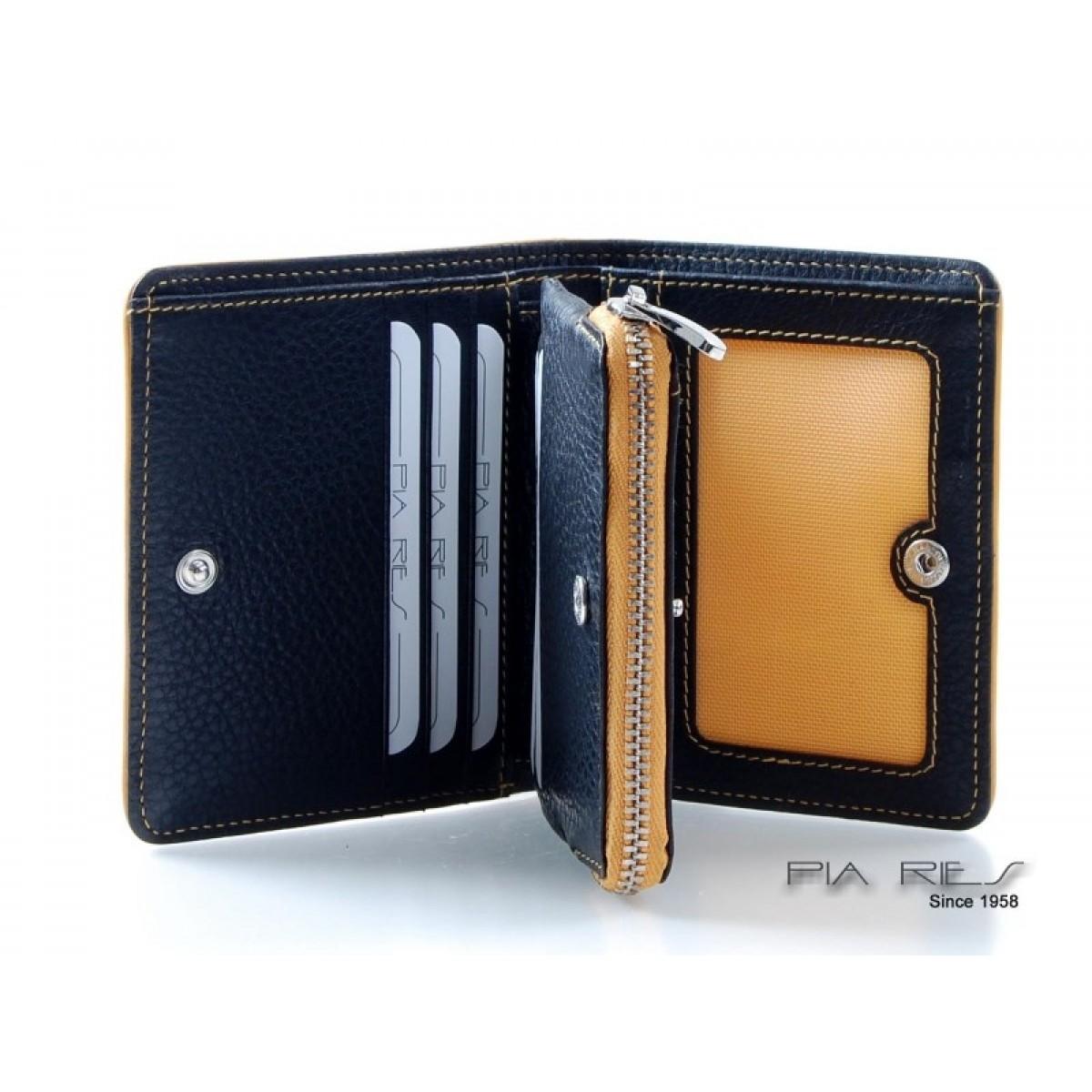 a451f63f476 Pung til kort, sedler og mønter med farvede detaljer gul-01 ...