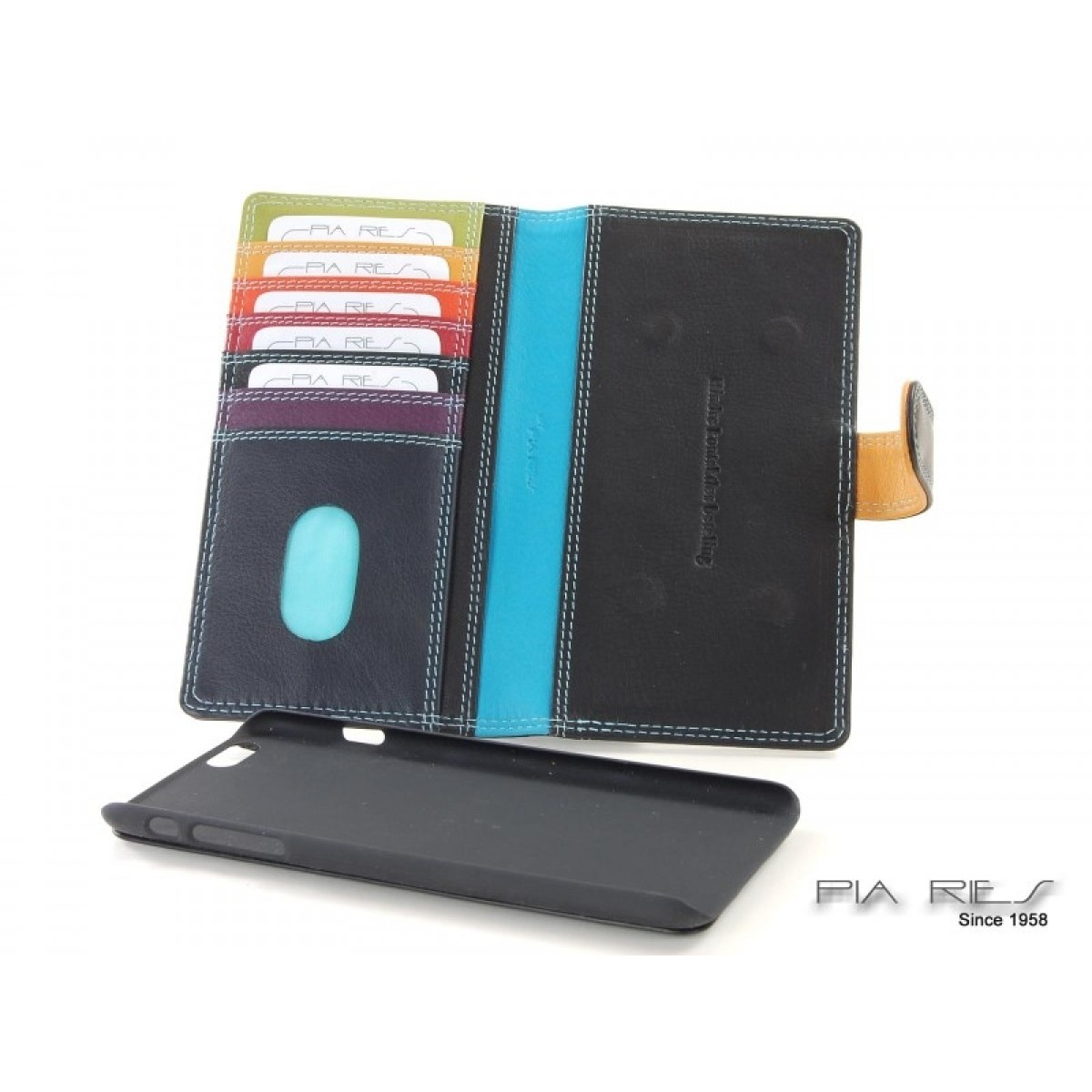 Etui I-phone 6+ sort RFID-31
