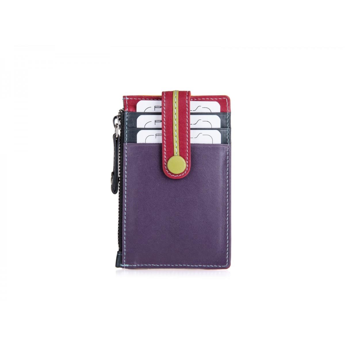 Kreditkort holder med møntrum i tropical farver-36