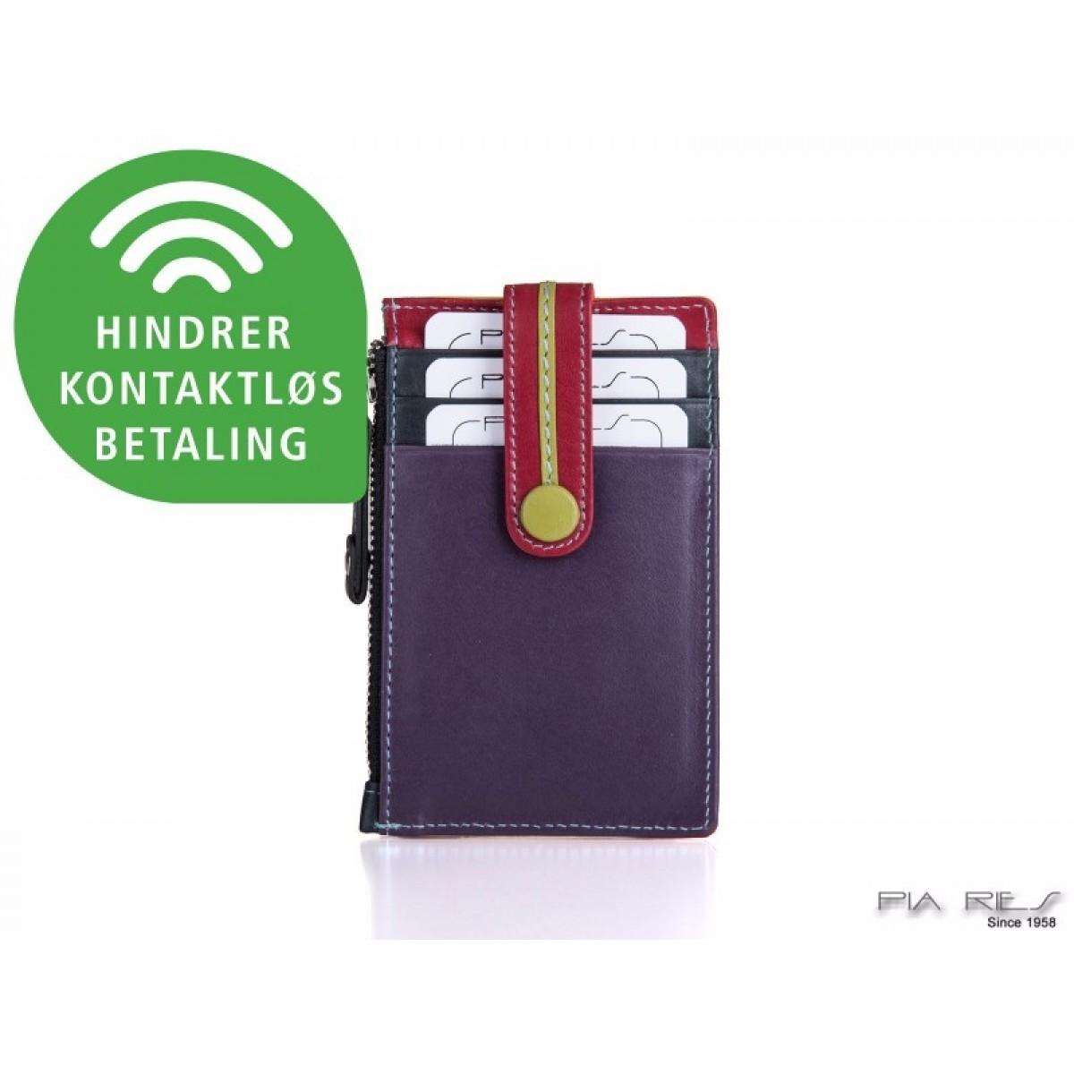 Kreditkort holder med møntrum i tropical farver-33