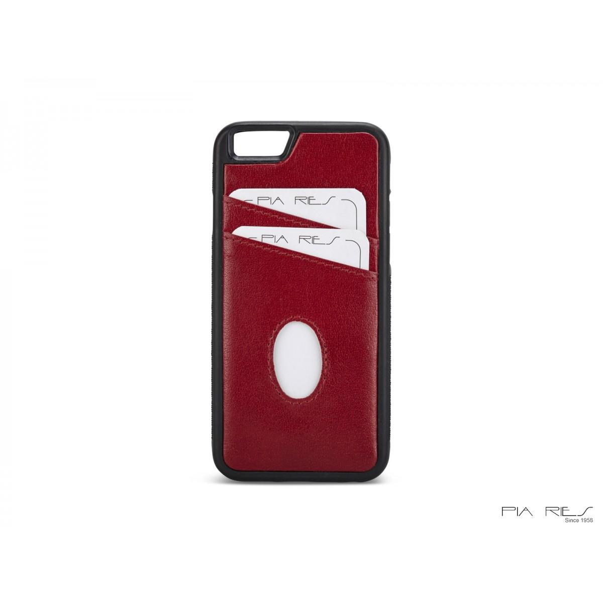 Cover med kreditkort I-phone 6-Rød-31
