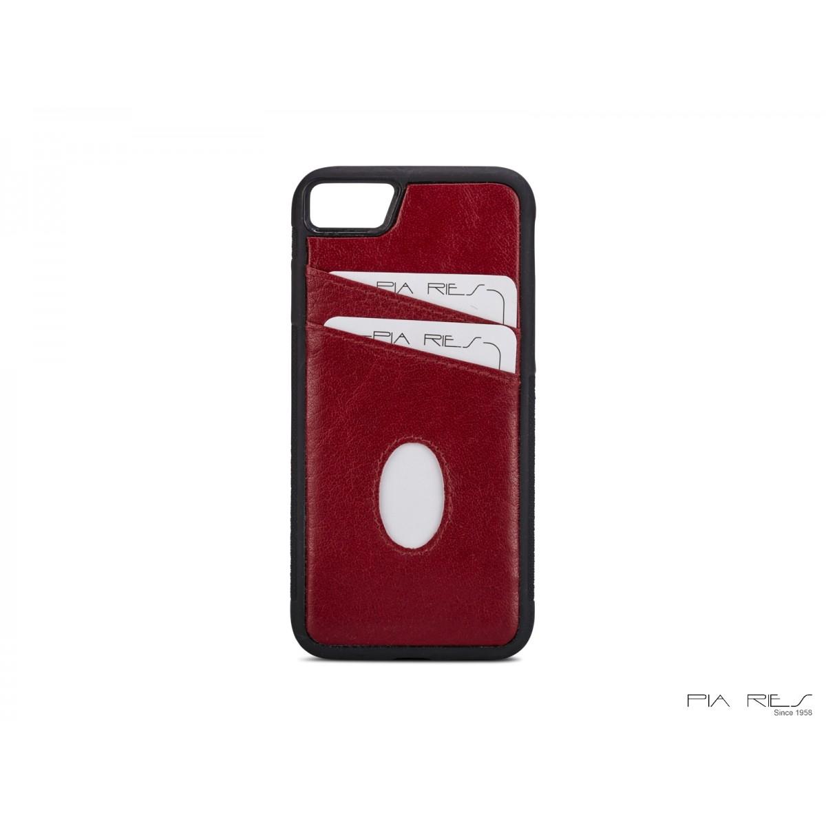 Cover med kreditkort I-phone 7 og 8-Rød-32