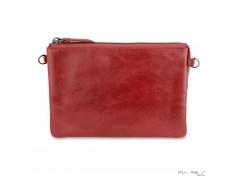 Stor clutch taske i crunch skind-20