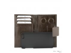 I-phone 5 lædercover-Gråbrun-20