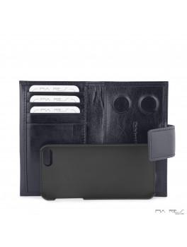 I-phone 5 lædercover-Mørkeblå