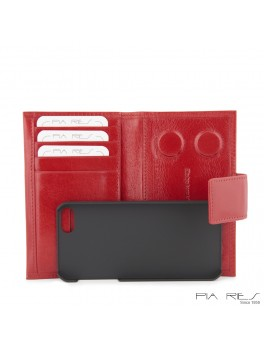 I-phone 5 lædercover-Rød